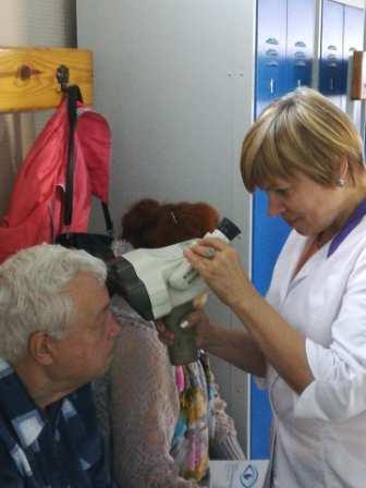 Пенсионеры Сергачского района бесплатно проверили зрение